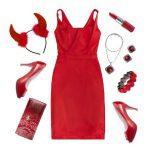 Rotes Kleid kombinieren, Schuhe, Strümpfe, Accessoires
